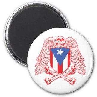 Puerto Rico Crossbones 2 Inch Round Magnet