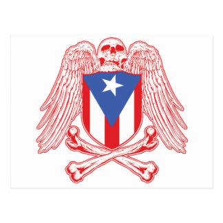 Puerto Rico Crossbones Postcard