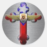 Puerto Rico - cruz y sello Etiqueta