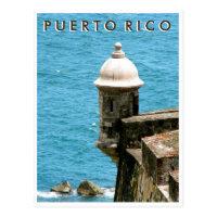 Puerto Rico: El Morro Ocean View Postcard