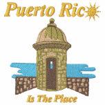 Puerto Rico es la camisa bordada lugar Camiseta Polo