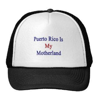 Puerto Rico es mi patria Gorro
