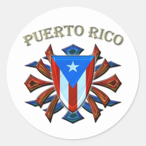 Puerto Rico - escudo Pegatinas Redondas