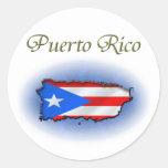 Puerto Rico Etiquetas Redondas