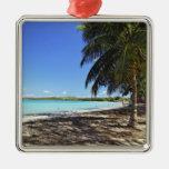 Puerto Rico, Fajardo, Culebra Island, Seven Seas Square Metal Christmas Ornament