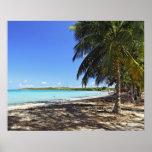 Puerto Rico, Fajardo, isla de Culebra, siete mares Póster