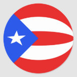 Puerto Rico Fisheye Flag Sticker