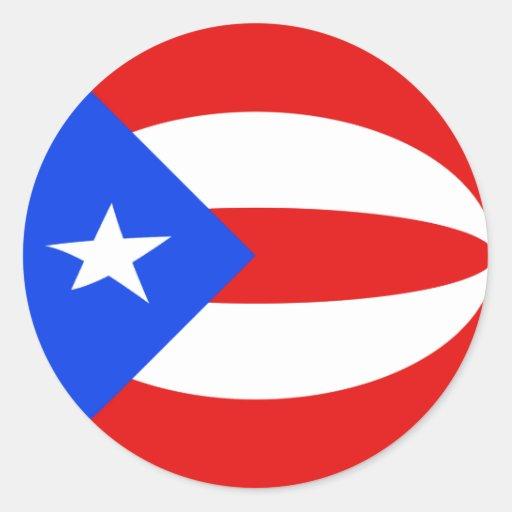Puerto Rico Fisheye Flag Sticker Zazzle