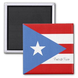 Puerto Rico Flag 2 Inch Square Magnet