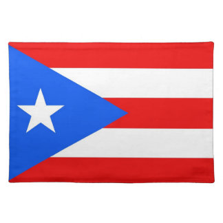 Puerto Rico Flag American MoJo Placemat Cloth Placemat