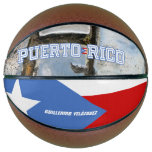 Puerto Rico Flag and San Juan Basketball