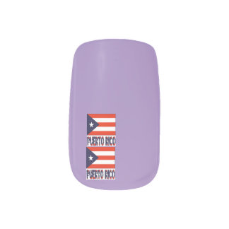 Puerto Rico Flag and Words Minx® Nail Wraps