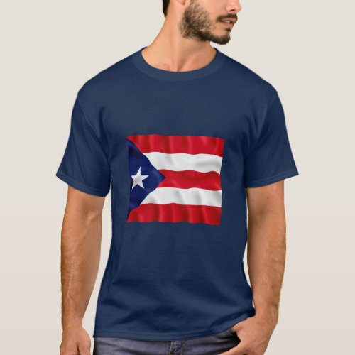 Puerto Rico Flag _ Basic Dark T_Shirt
