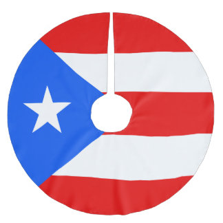 Puerto Rico Flag Brushed Polyester Tree Skirt