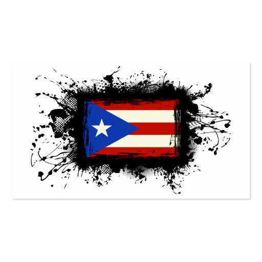 Puerto Rico Flag Double-Sided Standard Business Cards (Pack Of 100)
