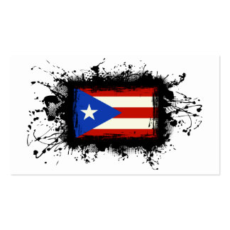 Puerto Rico Flag Business Card Template
