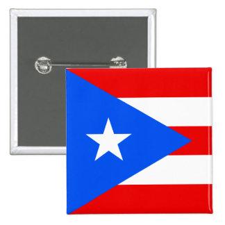 Puerto Rico Flag 2 Inch Square Button