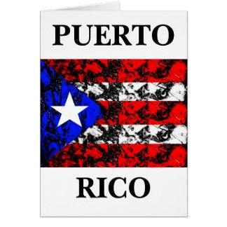 Puerto Rico Flag Card
