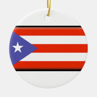 Puerto Rico Flag Ceramic Ornament