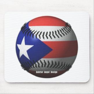 Puerto Rico Flag Covering a Baseball Mouse Pad