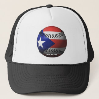 Puerto Rico Flag Covering a Baseball Trucker Hat