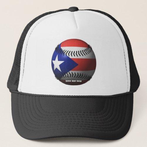 Puerto Rico Flag Covering a Baseball Trucker Hat