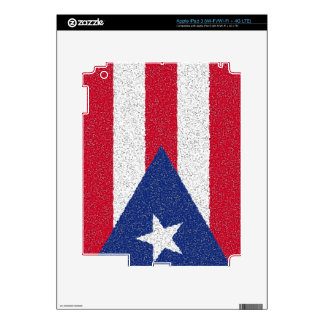 PUERTO RICO FLAG DECALS FOR iPad 3