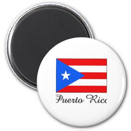 Puerto Rico Flag Design 2 Inch Round Magnet