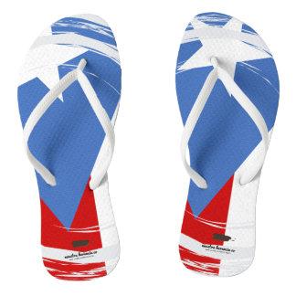 Puerto Rico Flag Design Flip Flops