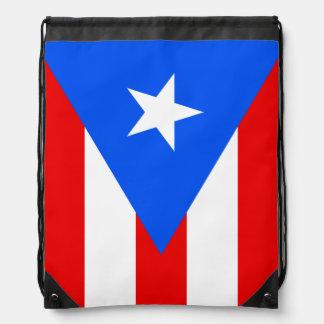 Puerto Rico flag drawstring backpack bag Drawstring Backpack