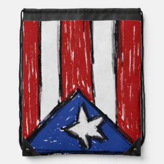 Puerto Rico Flag Drawstring Bag