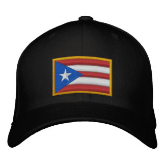 Puerto Rico Flag Embroidered Hats