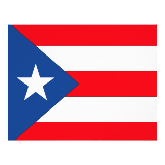Puerto Rico Flag Personalized Flyer