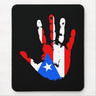 Puerto Rico Flag Handprint Mouse Pad