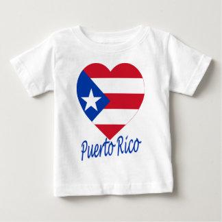 Puerto Rico Flag Heart Baby T-Shirt