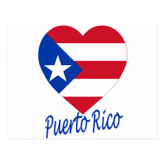 Puerto Rico Flag Heart Postcard