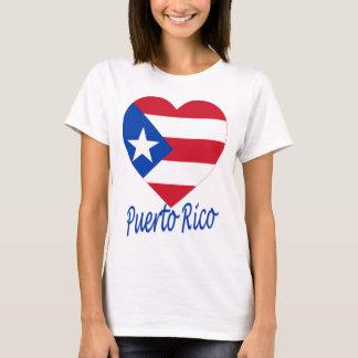 Puerto Rico Flag Heart T-Shirt