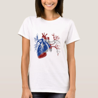 Puerto Rico Flag in Real heart T-Shirt