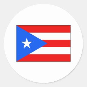 Puerto Rico FLAG International Classic Round Sticker