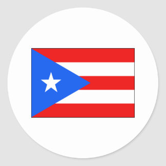 Puerto Rico FLAG International Classic Round Sticker