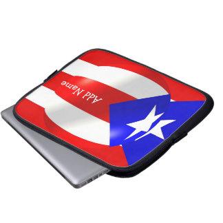 Puerto Rico Flag Laptop Sleeve