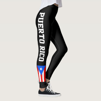 Puerto Rico flag leggings for workout sports & gym