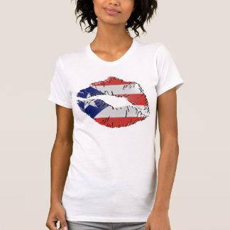 Puerto Rico Flag Lips T-Shirt