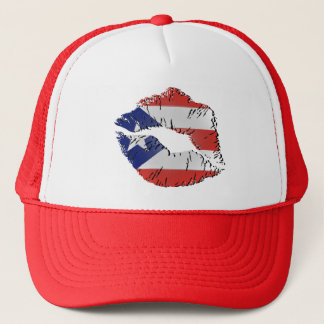 Puerto Rico Flag Lips Trucker Hat