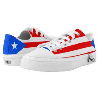 Puerto Rico Flag Low-Top Sneakers