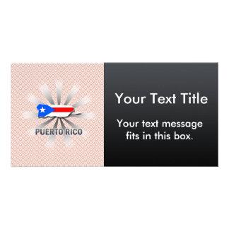 Puerto Rico Flag Map 2.0 Photo Card