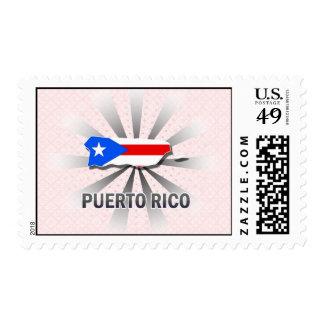 Puerto Rico Flag Map 2.0 Postage