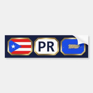 Puerto Rico Flag Map Code Bumper Sticker