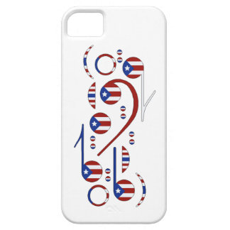 Puerto Rico Flag Music Notes iPhone 5 Case