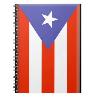 Puerto Rico Flag Spiral Notebooks